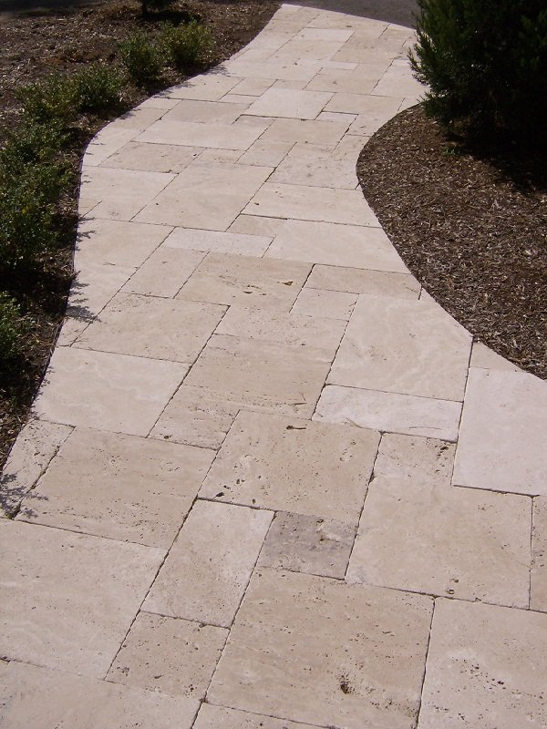 Travertine Pacific Brick Paving Newcastle - Paving Contractors